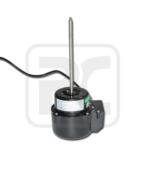 Single Long Shaft Steel Enclosure Beverage Air Fan Motor Black Color 35W