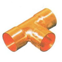 Copper Straight Tee Materials for HVAC